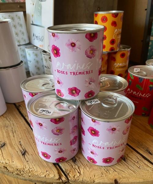 1- Graines de Roses Trémières (boîte Rose)