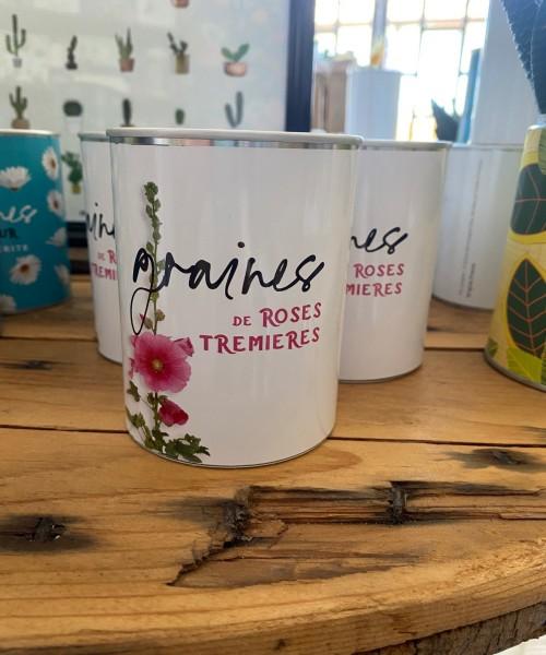 10- Graines de Roses Trémières (boîte Blanche)